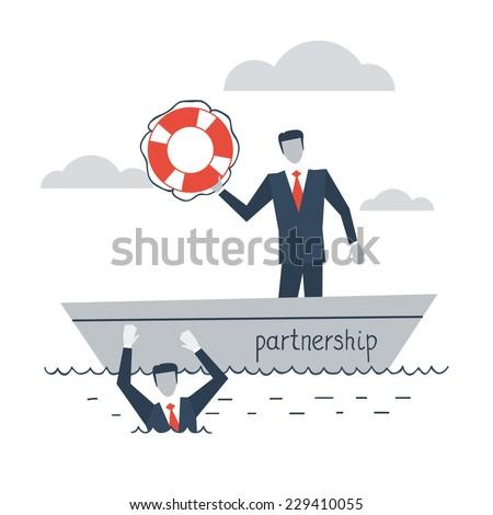 partnership or insurance concept - stock vector