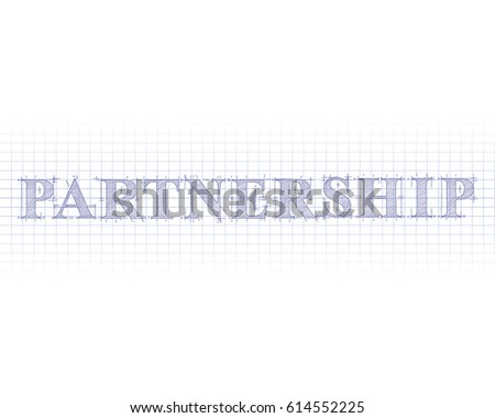 Partnership Word In Technical Drawing On Graph Paper  Graph Paper Word