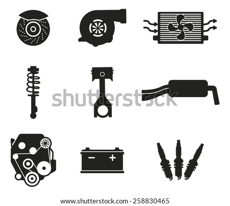 Parts from the auto - stock vector