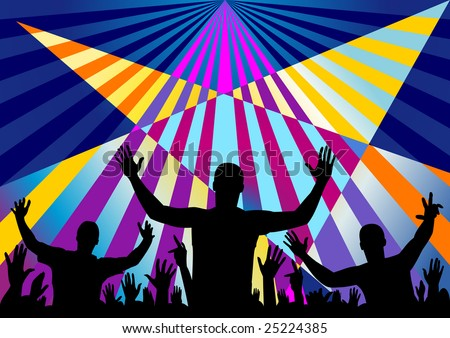Party audience crown background - stock vector