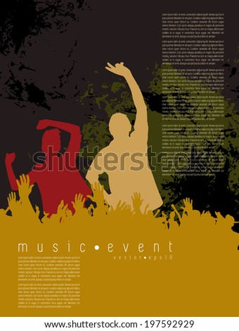 Party background for poster on banner. Editable vector