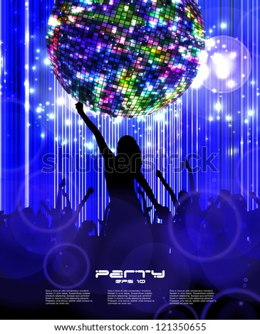 Party Background. Vector Illustration - stock vector