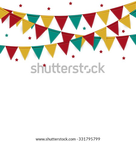 Party Background with Flags Vector Illustration. EPS 10 - stock vector
