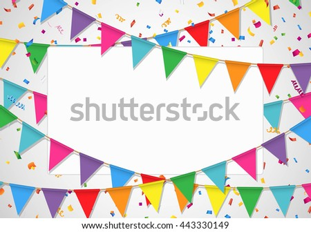 Party background with white board