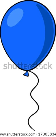 Party balloon illustration, sketch style.