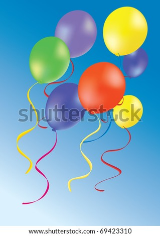 Party balloons illustration - stock vector