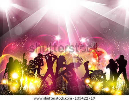 Party color light illustration - stock vector