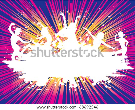 Party Dance Flyer background Illustration vector Disco - stock vector