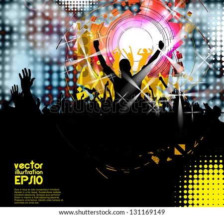 Party dance illustration design - stock vector