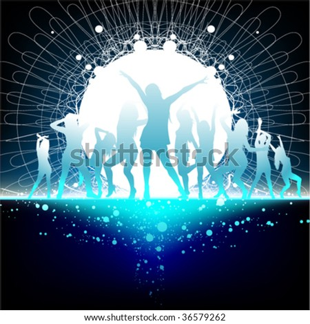 party dance time - stock vector