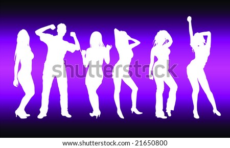 party dancers - stock vector