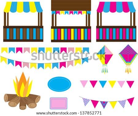Birthday Decoration Eps Image Inspiration of Cake and Birthday