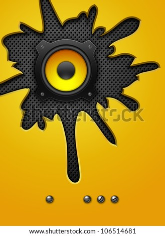 Party design element with speaker. Vector illustration - stock vector