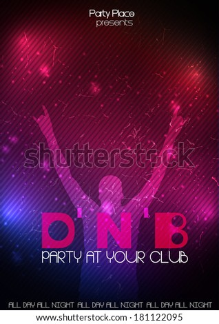 Party design template - Vector Illustration - stock vector