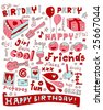 Party doodles. - stock vector
