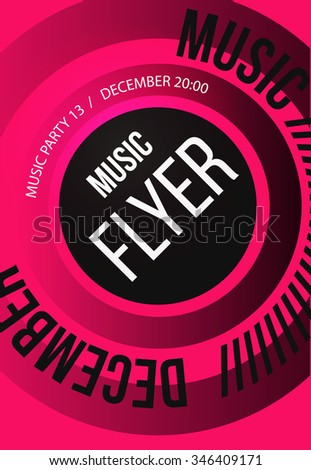 Party Flyer. Club music flyer. DJ lineup design. Vector template - stock vector