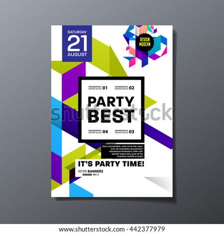 Party Flyer Template Vector Design Abstract Stock Vector 294138029