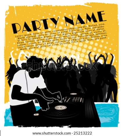 Party flyer vector - stock vector
