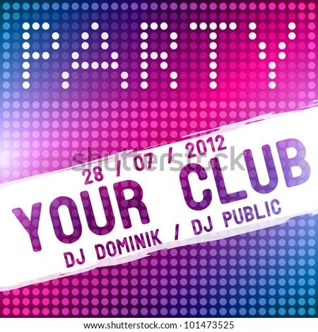 Party flyer vector template - stock vector