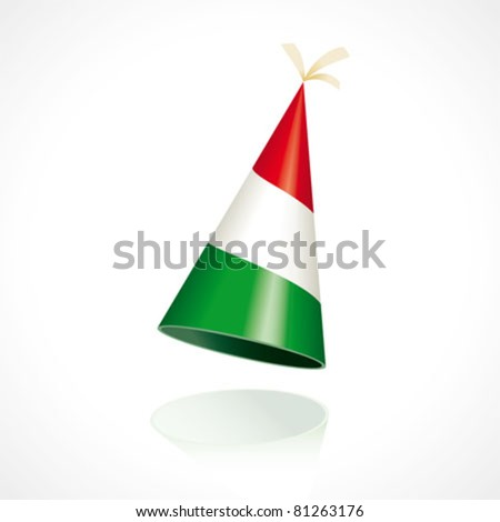 Party hat with the flag of Hungary - stock vector