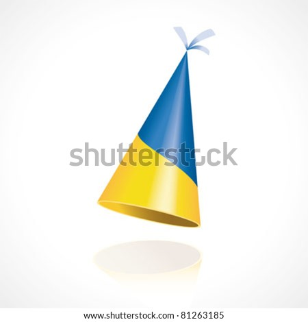 Party hat with the flag of Ukraine - stock vector