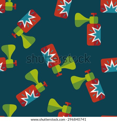 party horn flat icon,eps10 seamless pattern background - stock vector