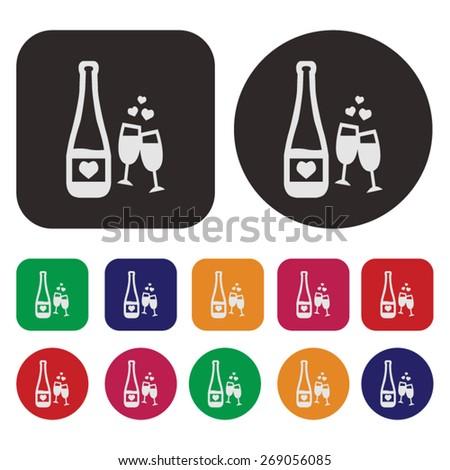 Party icon / Drink icon - stock vector