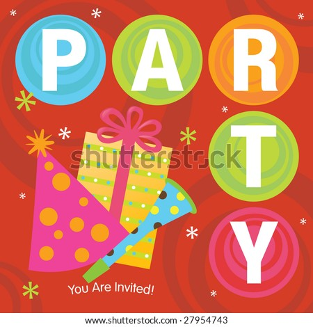 Party Invitation - stock vector