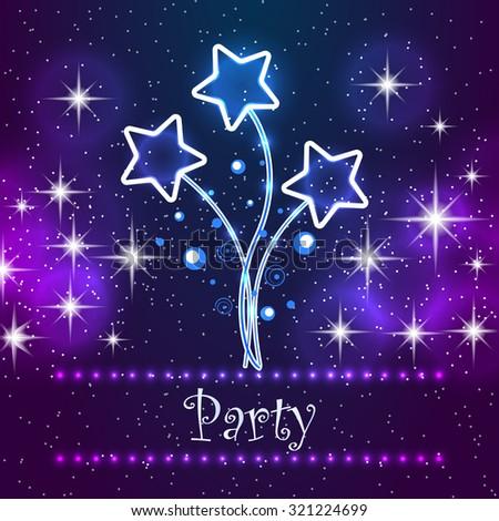 Party ivitation card design. For restaurants, cafe, nightclubs, etc.