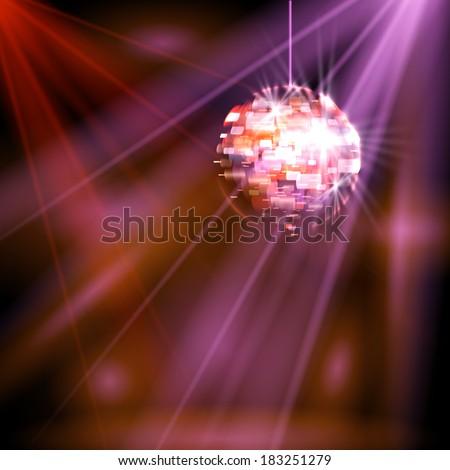 Party lights disco ball vector - stock vector