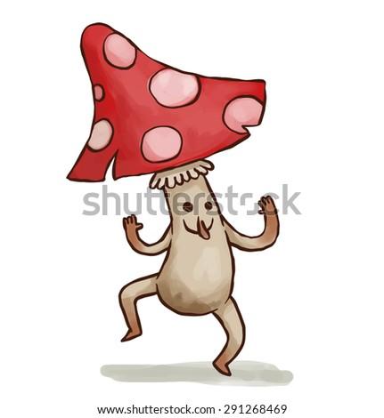 Party mushroom, vector - stock vector