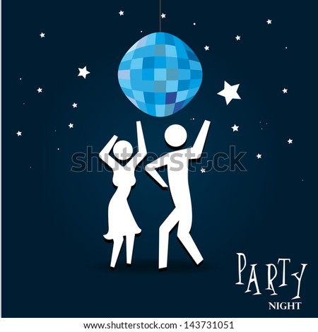 party night over sky night background vector illustration - stock vector