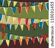 Party pennant bunting. Happy holiday background, vector, EPS10 - stock photo