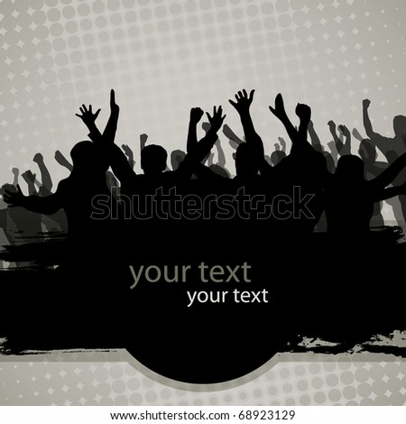 Party people - stock vector