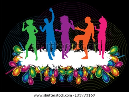 Party People Background - stock vector