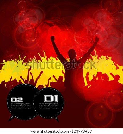 Party People. Concert Crowd - stock vector