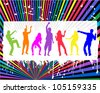 Party People Dancing - stock vector