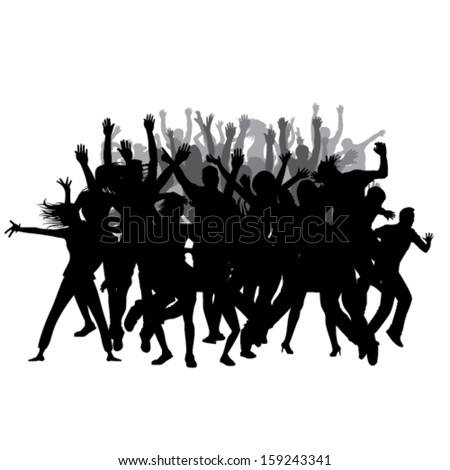 Party People silhouettes - stock vector