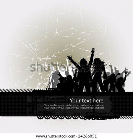 Party peoples, audience cheering success vector background 3 - stock vector