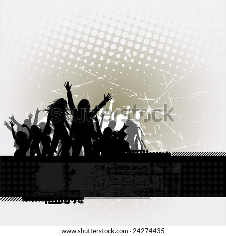 Party peoples, audience cheering success vector background 5