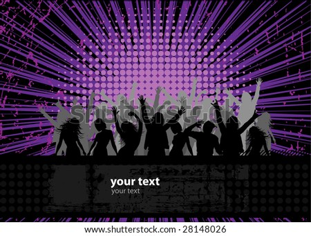 Party peoples, audience cheering success vector background 2