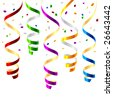 Party streamers. Vector. - stock vector