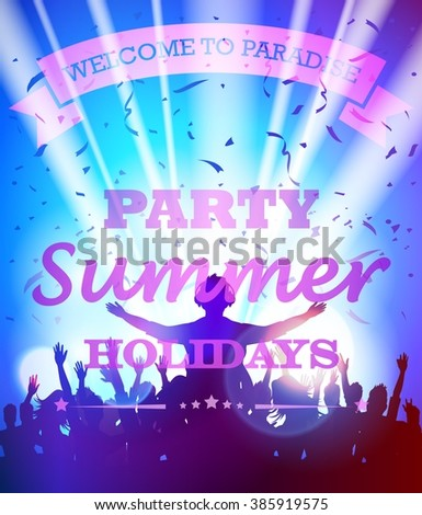 Party summer holidays - stock vector