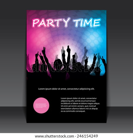 Party Time - Flyer or Cover Design - stock vector
