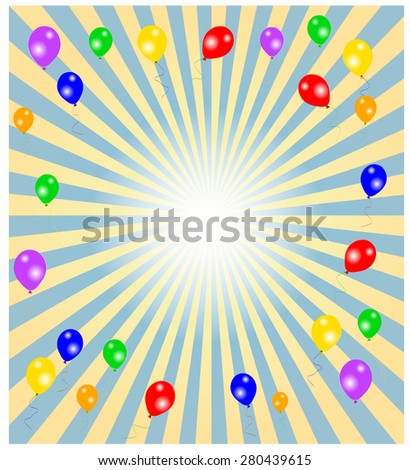 Party Vector Background - stock vector