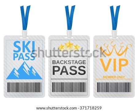 Pass cards - stock vector