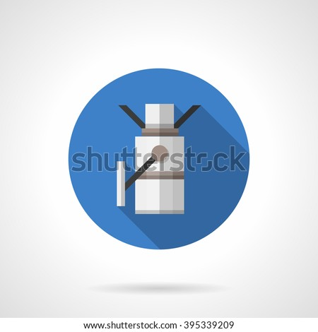 Pass equipment. Turnstile. Objects for supermarket, rail station, metro and others. Flat color style round vector icon. Element for web design, business, mobile app.  - stock vector
