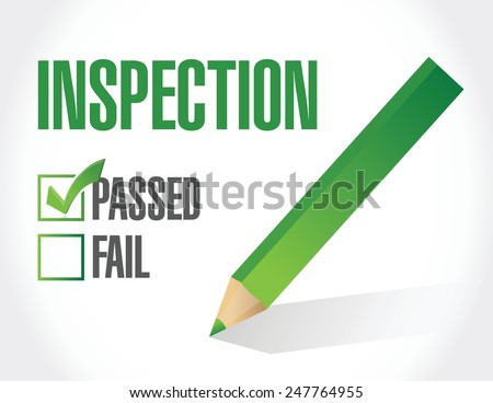 passed inspection check list illustration design over a white background - stock vector