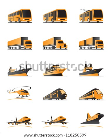 Passenger and cargo transportation - vector illustration - stock vector