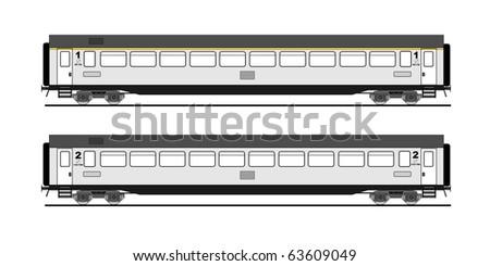 Passenger Train Stock Vectors & Vector Clip Art | Shutterstock